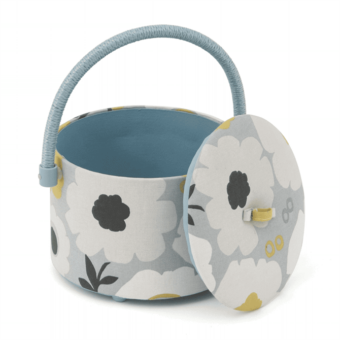 Groves Round Scandi Floral Sewing Box